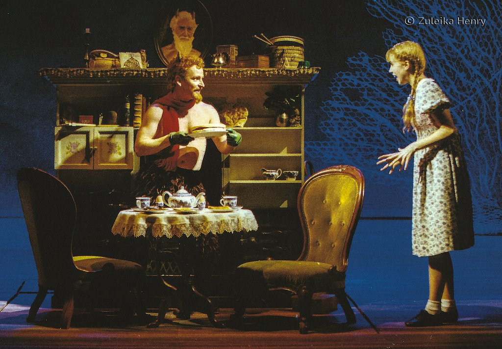 Ian Hughes as Mr. Tumnus and Rebecca Clarke as Lucy 'The Lion, The Witch and The Wardrobe' 1998