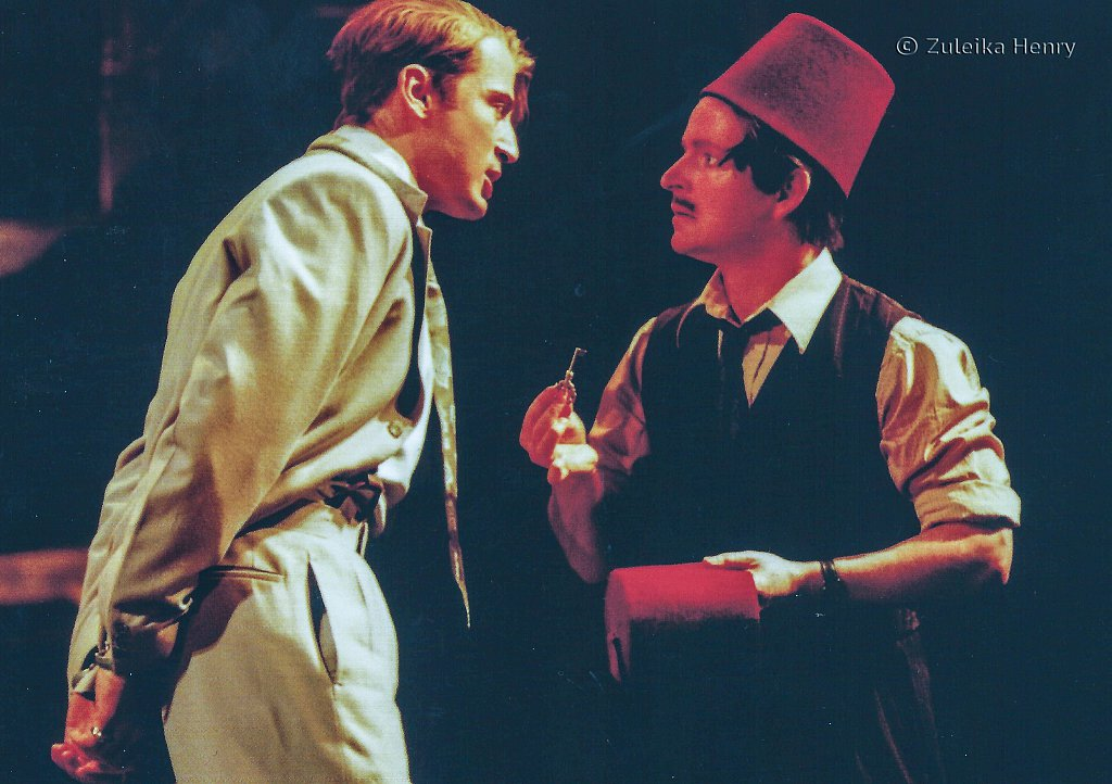 Antony Howell as Antipholus of Syracuse and Ian Hughes as Dromio of Ephesus 'The Comedy of Errors' 1999
