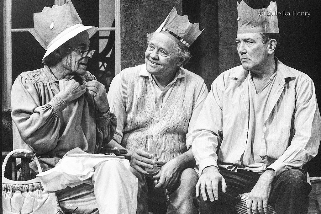 Hugh Paddick as Austin Purvis Dudley Sutton as Oliver Bude and Albert Finney as J.J. Farr