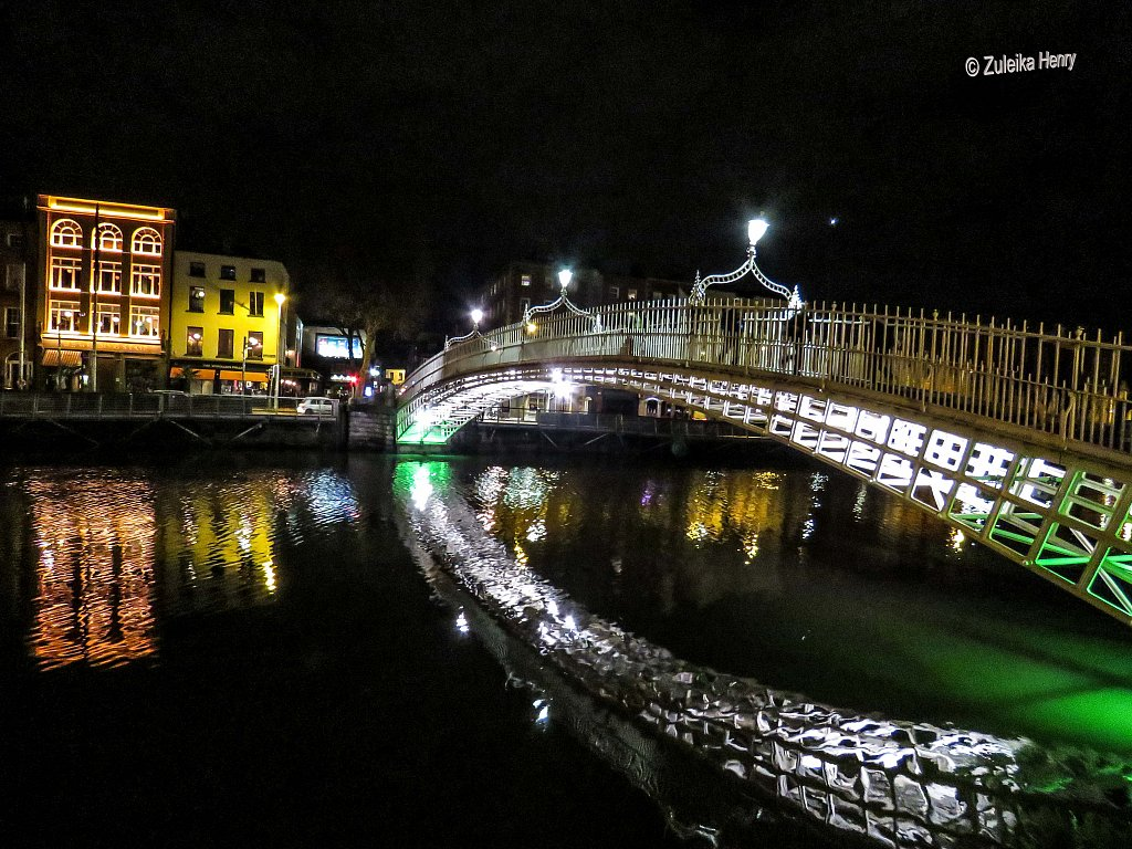 Ha'penny Bridge across the Liffey
