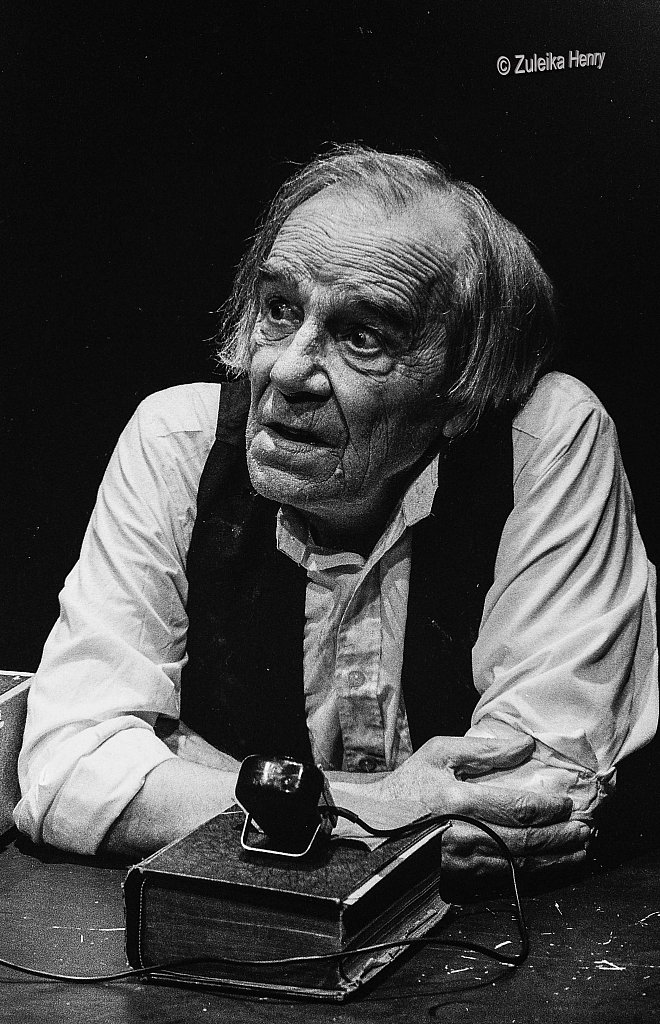 Max Wall in Samuel Beckett's Krapp's Last Tape