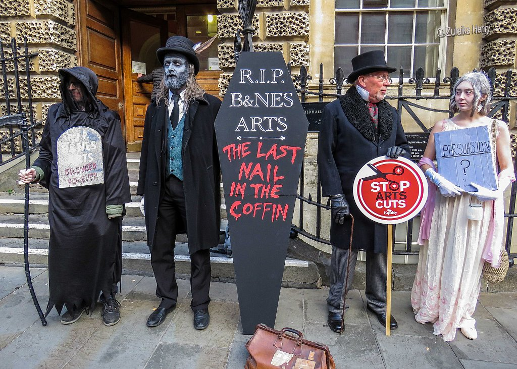 Arts Funding Cuts Protest